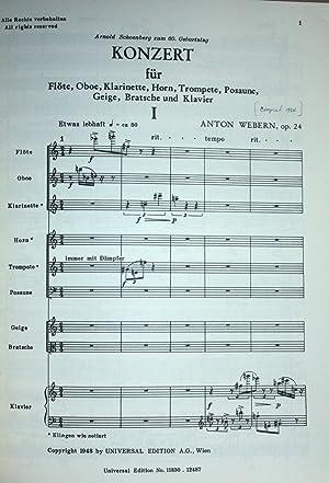 Konzert fur Flote, Oboe, Klarinette, Horn, Trompette, Posuane, Geige, Bratsche und Klavier Op. 24.:...