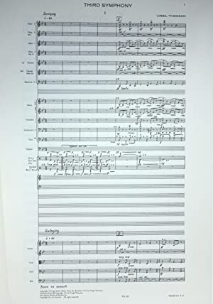 Third Symphony.: Thomson, Virgil