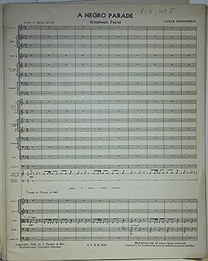 A Negro Parade: A Symphonic Patrol for Orchestra.: Stringfield, Lamar