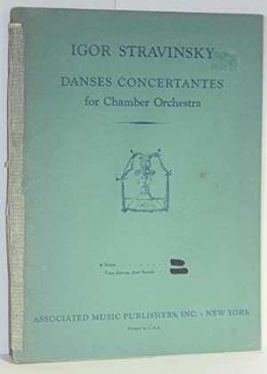 Danses Concertantes for Chamber Orchestra.: Stravinsky, Igor