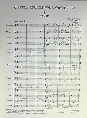Quatre Etudes pour Orchestre, Revision 1952: Stravinsky, Igor