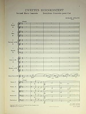 Zweites Hornkonzert: Second Horn Concerto: Deuzieme Concerto pour Cor: Strauss, Richard