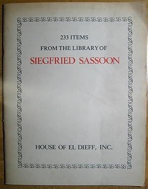 233 Items from the Library of Siegfried: Feldman, Lew David