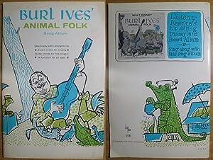 Burl Ives' Animal Folk: Song Album: Ives, Burl
