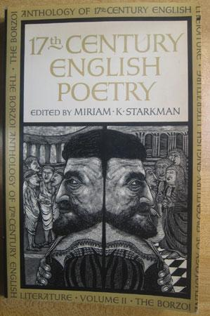 17th Century English Poetry, Vol. II: Starkman, Miriam K., Ed.