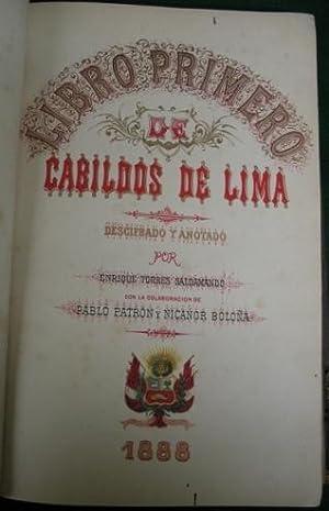 Libro Primero de Cabildos de Lima: Torres Saldamando, Enrique (1846-1896)