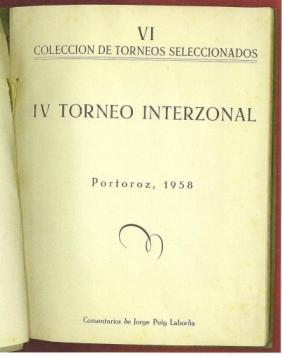 IV Torneo Interzonal Portoroz, 1958: Puig Laborda, Jorge (1928- )