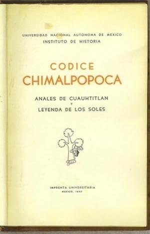 Codice Chimalpopoca. anales de Cuauhtitlan y Leyenda de los Soles: Velazquez, Primo Feliciano (...