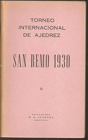 Torneo Internacional de Ajedrez San Remo 1930: Alekhine, Alexander Alexandrovich