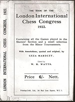 The Book of the London International Chess: William Henry Watts