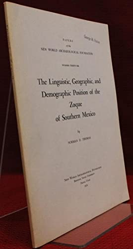The Linguistic, Geographic and Demographic Position of: Norman D Thomas