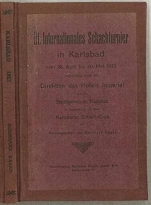 Bernhard (1866-1932) III Internationales Schachturnier in Karlsbad: Kagan, Bernhard (1866-1932)
