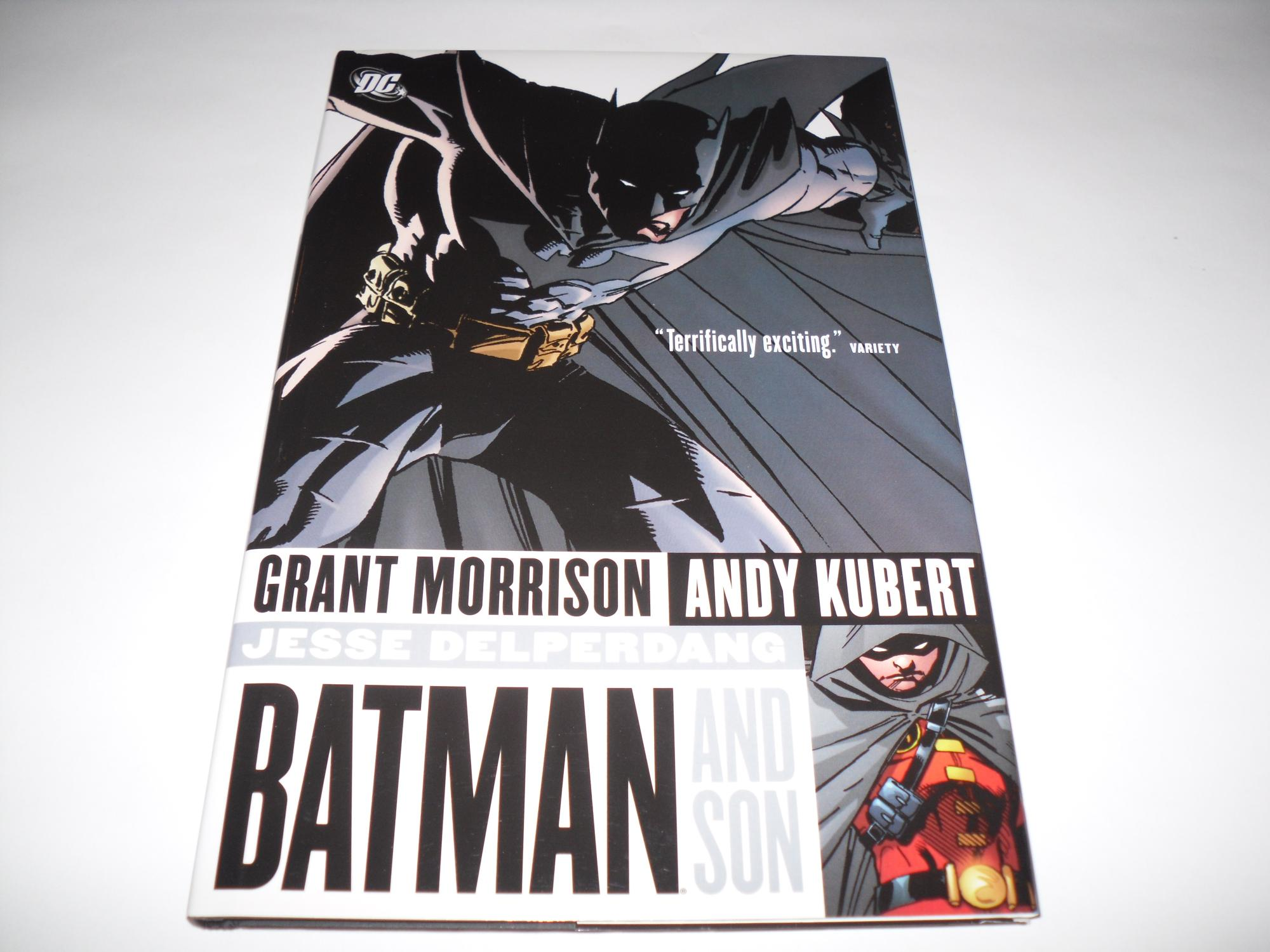 Batman And Son Signed W Doodle Photo By Morrison Grant Andy