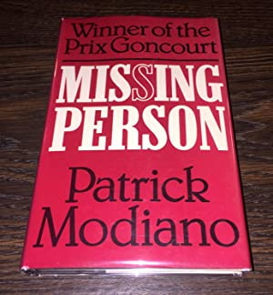 Missing Person [First UK Printing] ~ Nobel Prize: Modiano, Patrick