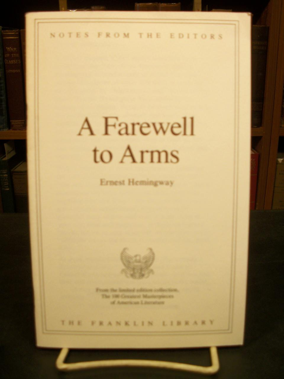 a farewell to arms by ernest hemingway abebooks