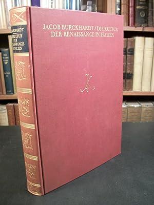 Die Kultur Der Renaissance in Italien: Burckhardt, Jacob