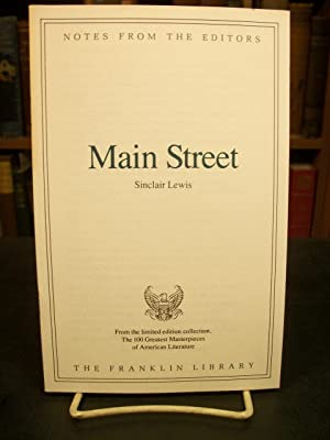 Main Street, Notes from the Editors, from: Lewis, Sinclair
