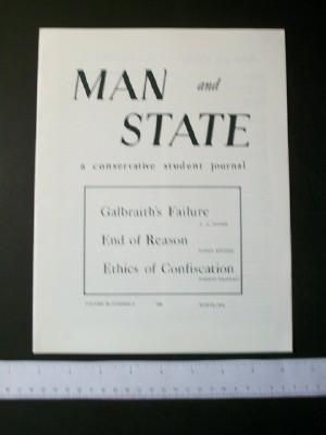 Man and State: A Conservative Student Journal, Volume III Number 2, March 1964: Levy, David (ed)