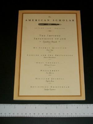 The American Scholar, Autumn 1998, Volume 67, Number 4
