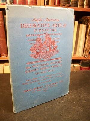 Anglo-American Decorative Arts & Furniture: Mrs. Winthrop: Parke-Bernet Galleries Inc.