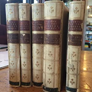 Lives of the English Saints - Leatherbound 1844 [5 volumes]