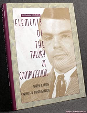 Elements of the Theory of Computation: Harry R. Lewis