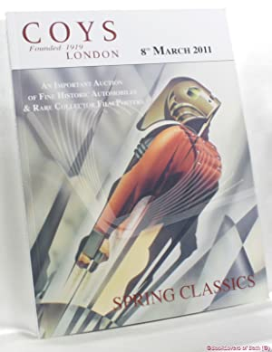Spring Classics: An Important Auction of Fine Historic Automobiles, & Rare Collector Film Posters...