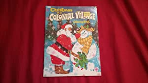CHRISTMAS IN A COLONIAL VILLAGE COLORING BOOK Rudin Helen