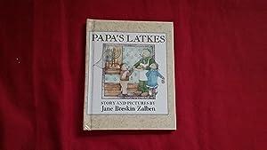 PAPA'S LATKES: Zalben, Jane Breskin, Illustrated by Jane Breskin Zalben