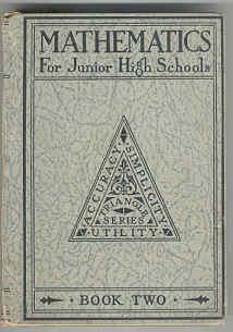 Mathematics for Junior High Schools: Book Two: Brueckner, Leo J.,