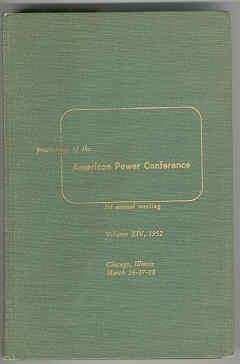 Proceedings of the American Power Conference March