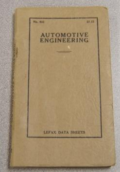 Automotive Engineering (Lefax Data Sheets #602): Lefax