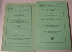 Mineral And Water Resources Of California, Parts I & II, 2 Volume Set