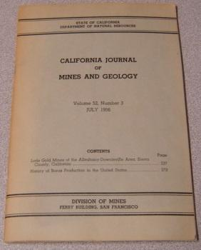 California Journal Of Mines And Geology, Volume 52, Number 3, July 1956