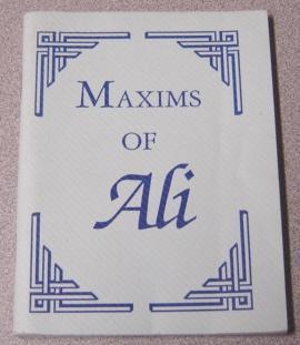 Maxims Of Ali: Ali; Chapman, J.