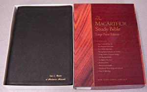 The MacArthur Study Bible, Large Print Edition, New King James Version
