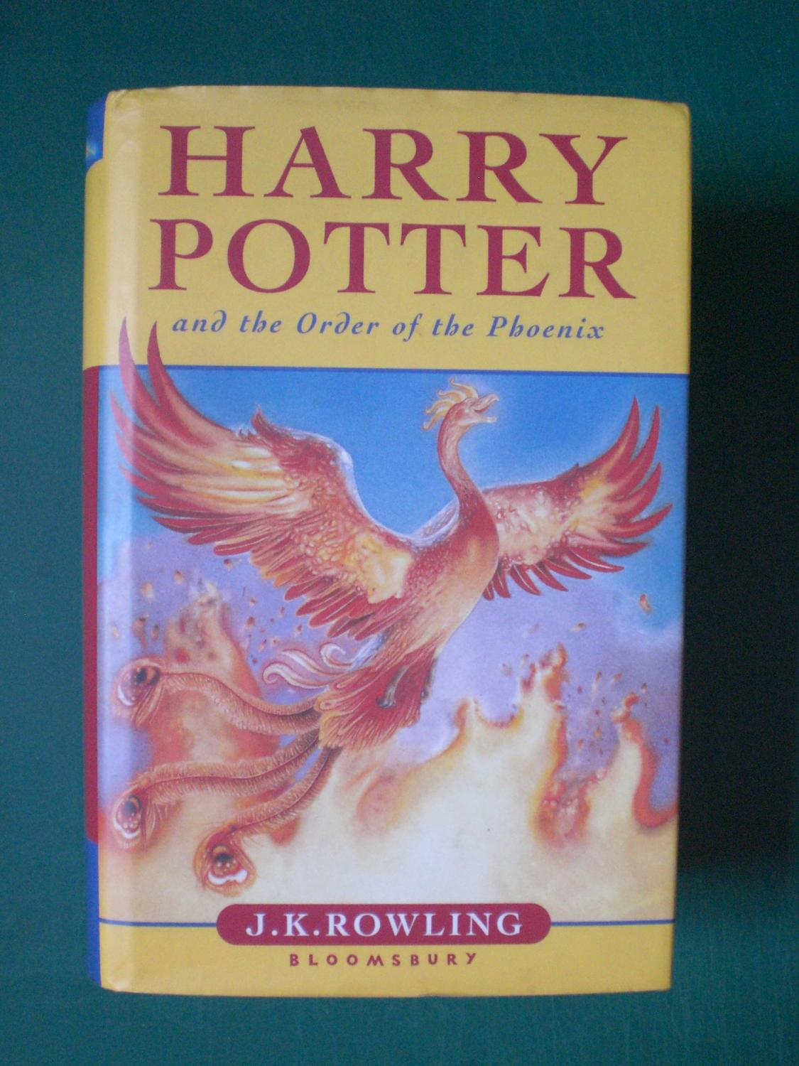 Harry Potter And The Order Of Phoenix Rare Misprint To 1st Page Chapter