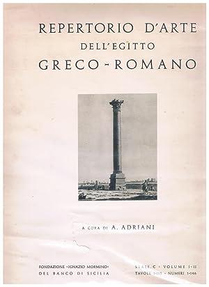 Repertorio D'Arte Dell'Egitto Greco-Romano. Serie C -: Adriani, Achille