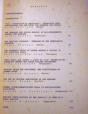 Studies in New England Puritanism (Studien Und Texte Zur Amerikanistik Volume 9): Winfried Herget [...
