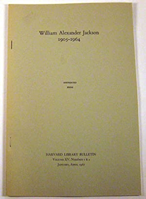 William Alexander Jackson 1905-1964: Bond, W. H.