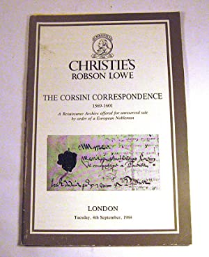 Christie's: The Corsini Correspondence 1569-1601 / England, France, Germany, Italy, ...