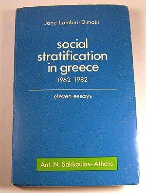 Social stratification in Greece, 1962-1982: Eleven essays: Jane Lambiri-Dimaki