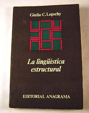 La linguistica estructural: Giulio C. Lepschy