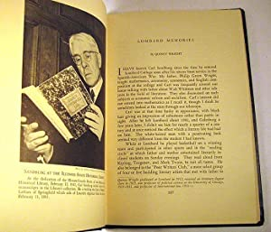 Journal of the Illinois State Historical Society (Carl Sandburg Commemorative Issue, Winter 1952): ...