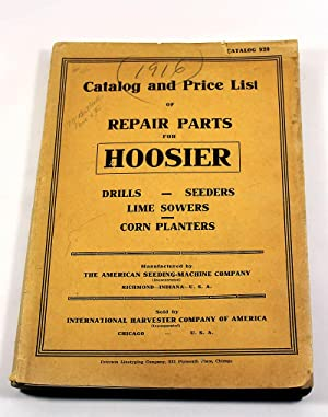 Catalog and Price List of Repair Parts