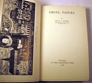 Oriel Papers: Cecil Stuart Emden