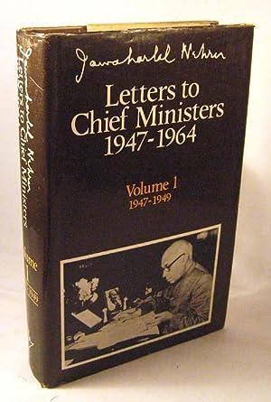 Letters to Chief Ministers 1947-1964: Volume I: 1947-1949: Nehru, Jawaharlal; Gandhi, Rajiv [...