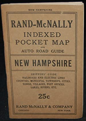 RAND-McNALLY INDEXED POCKET MAP AND SHIPPERS'; GUIDE OF NEW HAMPSHIRE