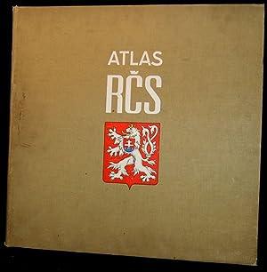 ATLAS REPUBLICKY CESKOSLOVENSKE; ATLAS DE LA REPUBLIQUE TCHESCOSLAVAGUE. [with] TEXTE ACCOMPAGNANT ...