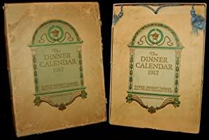 THE DINNER CALENDAR 1917 [Boxed]: Fannie Merritt Farmer